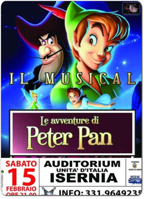 Locandina Musical Peter Pan 2014